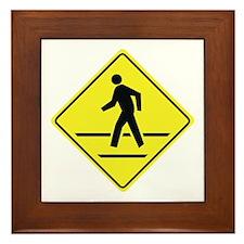 Pedestrian Crossing Framed Tile
