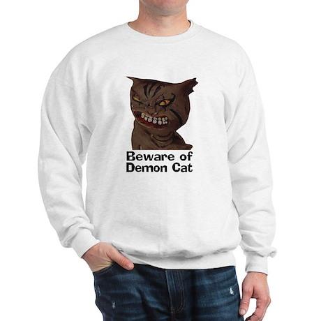Beware of Demon Cat Sweatshirt