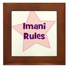 Imani Rules Framed Tile
