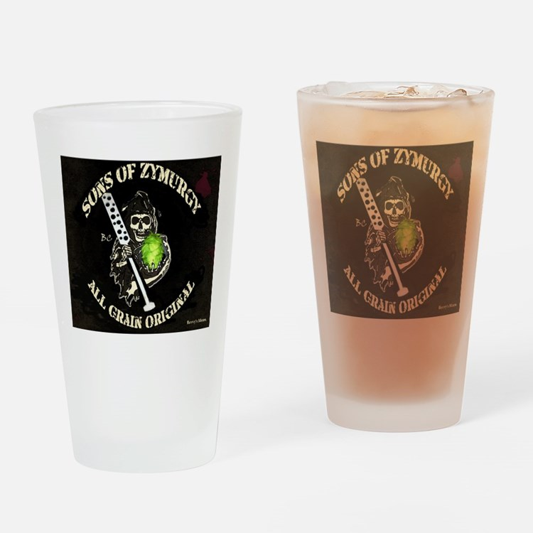 Cute Homebrewing Drinking Glass