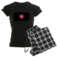 Pink Black Floral Spirited Designer Pajamas