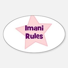 Imani Rules Oval Decal