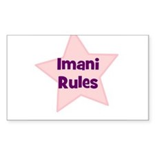 Imani Rules Rectangle Decal