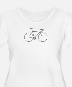 Impression of a Bicycle Plus Size T-Shirt
