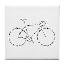 Word Bike Tile Coaster