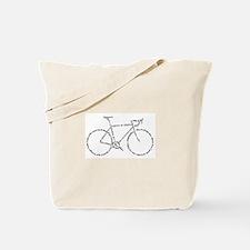Word Bike Tote Bag
