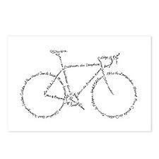 Word Bike Postcards (Package of 8)