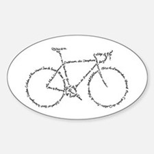 Word Bike Decal