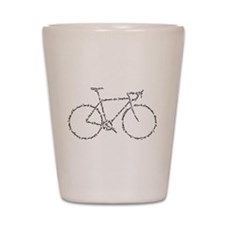 Word Bike Shot Glass