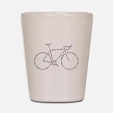 Word Bike Shot Glass