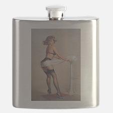 Classic Elvgren 1950s Pin Up Girl Flask