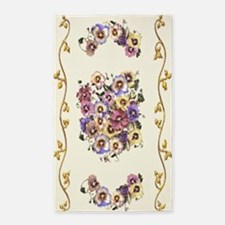 MIXED PANSIES 3'x5' Area Rug