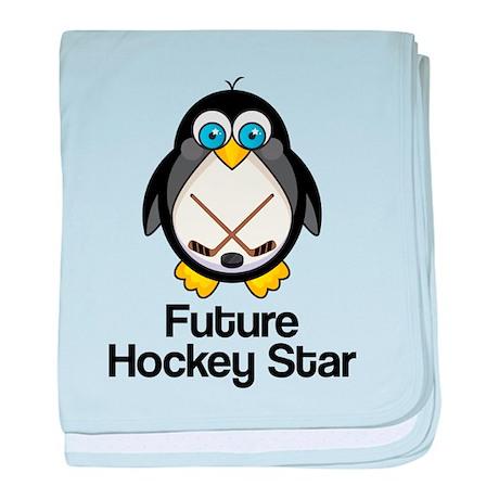 Future Hockey Star baby blanket
