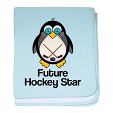 Future Hockey Star baby blanket