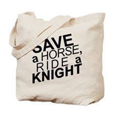 Save a Horse Black Tote Bag