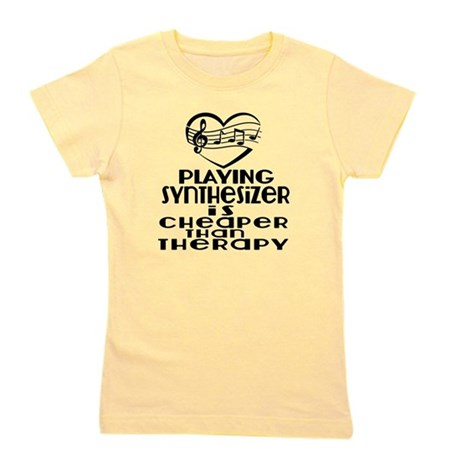 Synthesizer Is Cheaper Than Therapy Girl's Tee