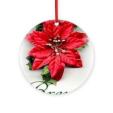 Poinsettia Brenda Ornament (Round)