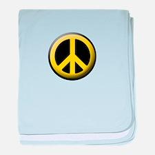 Peace yellow symbol baby blanket