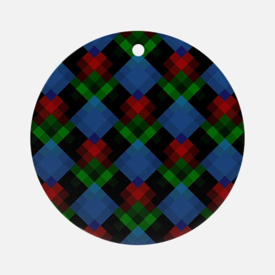 Dark Geometric Design. Ornament (Round)