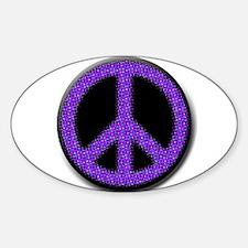 Purple Peace sign Decal