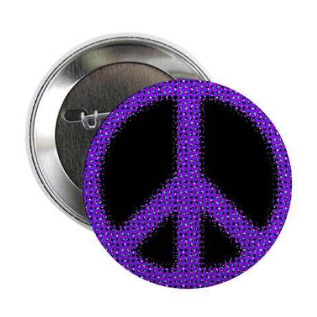 "Purple Peace sign 2.25"" Button"