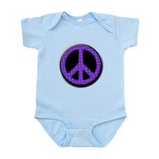 Purple Peace sign Body Suit