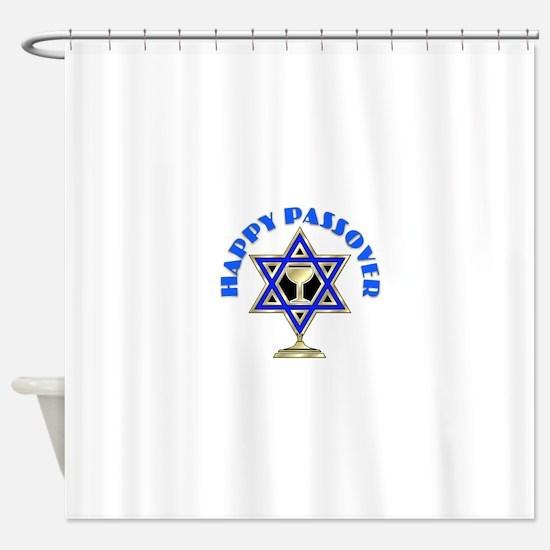 Jewish Star Passover Shower Curtain