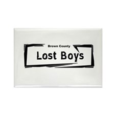 Brown County Lost Boys Rectangle Magnet