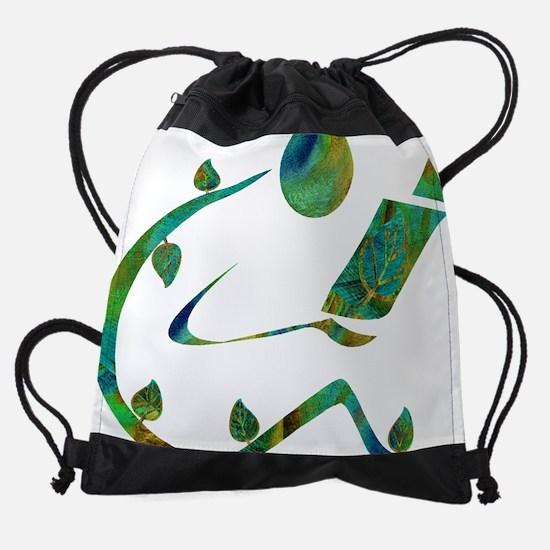2-GreenReader.png Drawstring Bag