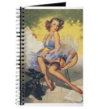Classic Elvgren 1950s Vintage Pin Up Girl Journal