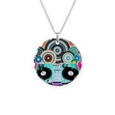 DJ Turntable and Balls Necklace