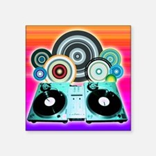 DJ Turntable and Balls Sticker