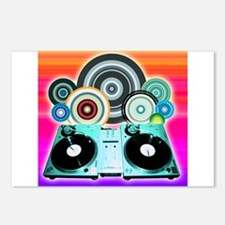 DJ Turntable and Balls Postcards (Package of 8)