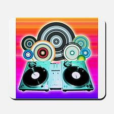 DJ Turntable and Balls Mousepad