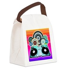 DJ Turntable and Balls Canvas Lunch Bag