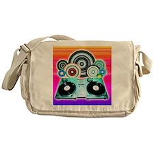 DJ Turntable and Balls Messenger Bag