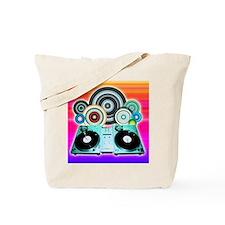 DJ Turntable and Balls Tote Bag