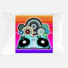 DJ Turntable and Balls Pillow Case