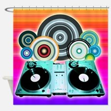DJ Turntable and Balls Shower Curtain