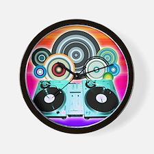 DJ Turntable and Balls Wall Clock