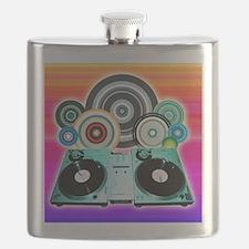 DJ Turntable and Balls Flask