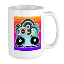 DJ Turntable and Balls Mug