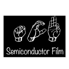 semiconductor Film black Postcards (Package of 8)