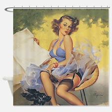 Classic Elvgren 1950s Vintage Pin Up Girl Shower C