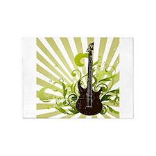 Grunge Guitar Design 5'x7'Area Rug