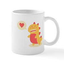 Kawaii smiling Dino talking about love Mug