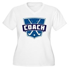 Field Hockey Coach (blue) Plus Size T-Shirt