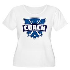 Field Hockey Coach (blue) Plus Size T-Shirt