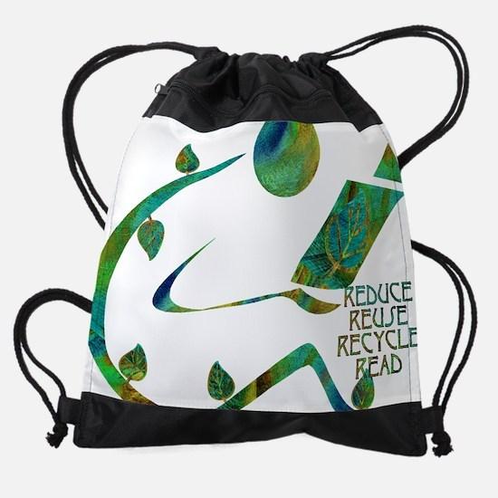 GreenReader4R.png Drawstring Bag