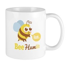 Funny Cartoon: Kawaii Yellow & Brown Bee Humming M